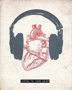 Listen to your heart.by Hunter Langston to Music Sanat Karavanı: Fotoğraf Reasons To Quit Smoking, A State Of Trance, Heart Art, Music Heart, Listening To Music, Music Quotes, Singing Quotes, Music Lyrics, Music Is Life
