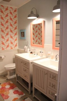 CheviotProducts Likes This Kitschy Kids Bathroom.