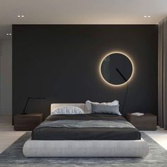 Vibia's Guise collection has been named a winner of the 2018 prestigious Red Dot Award for product design. Designed by Stefan Diez, the Guise collection explores the relationship between light and transparency. Hotel Bedroom Design, Home Room Design, Home Decor Bedroom, Modern Luxury Bedroom, Modern Bedroom Design, Luxurious Bedrooms, Interior Design Photos, Lampe Led, Living Room Lighting