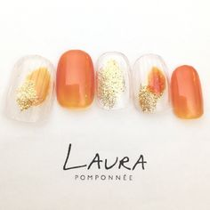 Installation of acrylic or gel nails - My Nails Luv Nails, Pretty Nails, Best Nail Art Designs, Acrylic Nail Designs, Shellac Nails, Manicure And Pedicure, Japanese Nails, Garra, Orange Nails