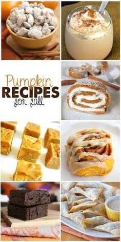 15 delightfully tasty pumpkin recipes for fall. Features a homemade pumpkin spiced latte and pumpkin brownies. YUM!!