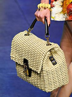 dita dolce and gabbana bag | Dita von Teese Loves Her...Dolce & Gabbana Wicker Bag » Red Carpet ...