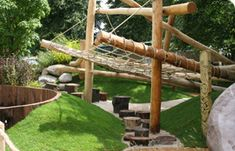 outdoor spaces, play garden, playground