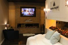 Dimplex IgniteXL wall mount electric fireplace and Opti-myst on display at HPBExpo in New Orleans, March 2016. Learn more about these amazing new products at www.dimplex.com