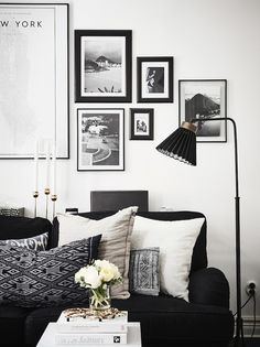 my scandinavian home: A Swedish home with dramatic black accents