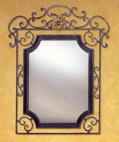 Wrought Iron mirror frame created with our components