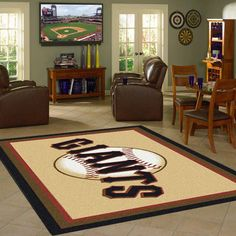 Show your team pride and spirit during the game with an officially licensed area rug made in the USA by Milliken. Features Made with Stainmaster Nylon Fade Resi