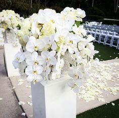 Overflowing white orchids from last weekend's beautiful #wedding ceremony. #marriedatmarriott #newportbeachmarriott #newportbeachmarriott