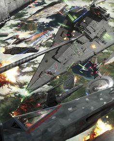 Escena de la Segunda Guerra Civil Galáctica (40 DBY)