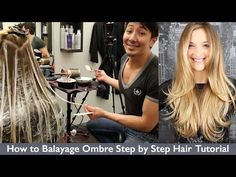Balayage with two colors (lowlights) and balayage in between - YouTube