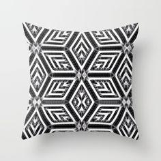 Abstract Diamond Pattern Throw Pillow