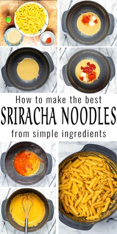Easy and so delicious: these Sriracha Noodles are really simple to make and ready in under 15 minutes. A keeper that everyone will eat and naturally vegan. #vegan #dairyfree #vegetarian #dinner #lunch #mealprep #contentednesscooking #srirachanoodles Dairy Free Diet, Dairy Free Recipes, Gluten Free, Vegan Breakfast Recipes, Delicious Vegan Recipes, Creamy Pasta, My Best Recipe, Spring Recipes, Base Foods