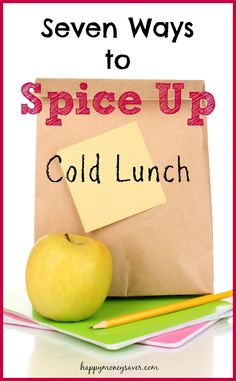 Cold lunches getting boring? Use these 7 tips to Spice up those cold lunches! So easy and fun!