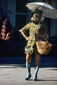 The Parasol Man, in Sopot on the Baltic coast.., 1960s - Chris Niedenthal