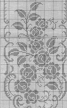 Crochet Table Runner Pattern, Crochet Doily Patterns, Crochet Doilies, Filet Crochet Charts, Crochet Diagram, Crochet Fruit, Diy Crochet, Cross Stitch Fruit, Crochet Carpet