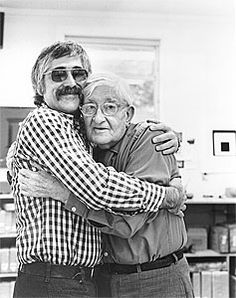 Josef Albers and Kenneth Tyler. 1975 at TYler Graphics 1974