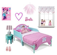 """Cute Little Girl's Bedroom"" by grafic-703 ❤ liked on Polyvore featuring interior, interiors, interior design, home, home decor, interior decorating, Deluxe Comfort, Butler Specialty Company, A Little Lovely Company and Dainolite"