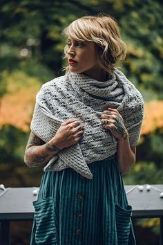 With unique corner-to-corner construction, this asymmetrical triangle shawl is full of texture that reminds me of the gorgeous sparkling frost that forms like delicate crystals in the stillness of winter. A relaxing knit and purl stitch pattern leads the way to gorgeous lace. All held within a crisp, elastic I-cord border.