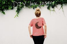 Mr. Kate | DIY lace insert tee