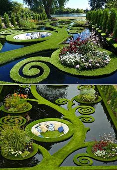 Beautiful pictures of a stunning garden - Wonderful Backyard Ideas 2019 Topiary Garden, Garden Art, Garden King, Amazing Gardens, Beautiful Gardens, Landscape Architecture, Landscape Design, Beautiful Places, Beautiful Pictures