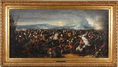 Joseph Navlet (1821-1889) Oil on Canvas 'The Battle of Reichshoffen', 30 x 60 inches at Dirk Soulis Auctions 3-23-13.
