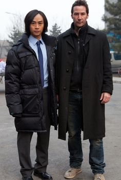Tiger Chen and Keanu Reeves Keanu Reeves House, Keanu Reeves John Wick, Keanu Charles Reeves, It Movie Cast, It Cast, Man Of Tai Chi, Beautiful Men, Beautiful People, The Boy Next Door