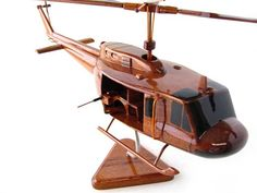 UH1 Bell Huey Wooden Helicopter Beautiful by PremiumWoodDesigns