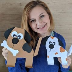 Hello everyone 👋, for Sunday craft I prepared these dogs 🐕. This craft is really easy ideal for kindergarten activities and craft at home… Dog Crafts, Cute Crafts, Easy Crafts, Crafts For Kids, Animal Art Projects, Animal Crafts, Craft Projects, Kindergarten Activities, Preschool Crafts