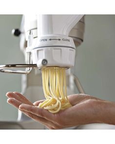 Making your own pasta at home has never been easier than with this KitchenAid Pasta Press Attachment. A must have for any home cook with a stand mixer.
