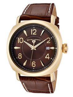Swiss Legend Watches Men's Executive Gold & Brown Watch