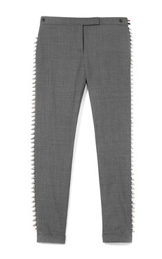 M'O Exclusive: Studded Twill Trousers by Thom Browne