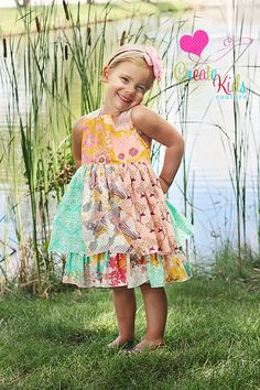 Mia's Reverse Knot Dress PDF Sewing Pattern by Create Kids Couture