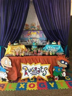 Rugrats Themed Birthday Party I Decorated For Twins First