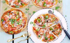 Bråttompizza med pizzasallad