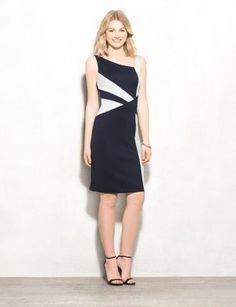 Scuba Color Block Sheath Dress (original price, $46.00) available at #Dressbarn