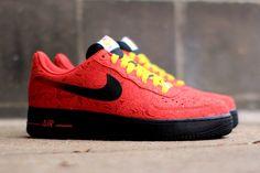 Nike Air Force 1 (University Red Paisley) - Sneaker Freaker