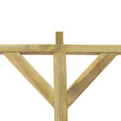 Pergola i træ til vægmontering, 2 x 4 x 2,2 m[3/3]