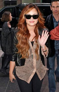 Celebrity Demi Lovato Ombre Hair 2014 2015