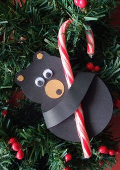 How to make Tree Ornament - Candy Cane Bear - DIY Craft Project from Craftbits.com
