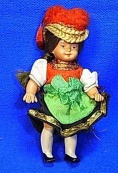 Vintage German Black Forest Trachten Doll #CE