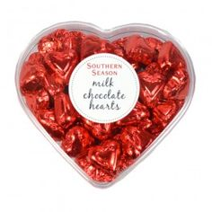 This Milk Chocolate Hearts Gift Box from Southern Season is perfect for Valentine's Day.
