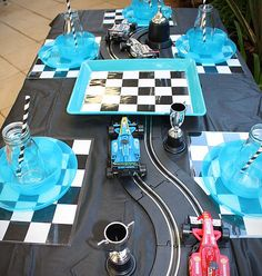 Formula 1 Racing Car theme party hire package for children in Perth