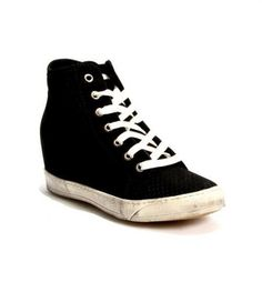 Black Perforated Nubuck Sneakers / Boot 20% OFF- Code PINTEREST20