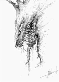 Little sketch from Berserk (manga) I hesitate to use watercolor ^-^'