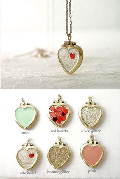 bridesmaid gift ideas - dainty lockets Bitsy bride