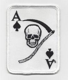 Ace of Spades Death Card Vietnam War Era Patch U.S. Army Ace of Spades  Death Card 684a5eb14a7
