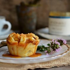 Salted Caramel Peach Mini Pies using Spoonable Salty Caramel Sauce + Blog Giveaway