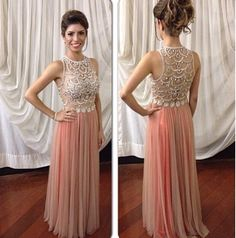 Blush Pink Prom Dresses,Sparkle Prom Gowns