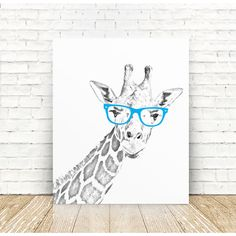 Giraffe Art, Giraffe Nursery Art Print, Giraffe Portrait Art Print,... ($10) ❤ liked on Polyvore featuring home, home decor, wall art, giraffe home decor, home wall decor, giraffe wall art and mounted wall art
