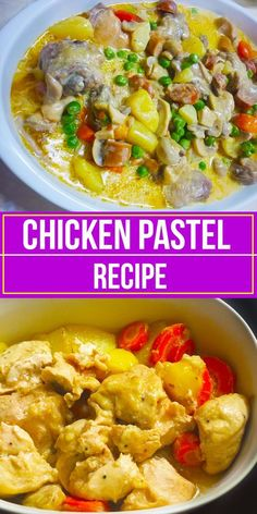 Chicken Pastel recipe is a recipe that is highly influenced by the Spanish colonizers in the Philippines. This is a similar version of the . Chicken Recipes Pinoy, Asian Recipes, Chicken Pot Recipe, Chicken Recepies, Asian Foods, Filipino Desserts, Filipino Food, Easy Filipino Recipes, Chicken Pastel